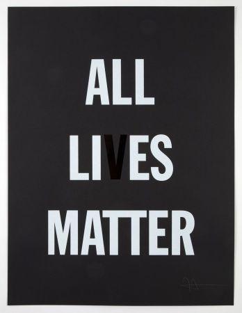 Литография Hank - All Li es Matter