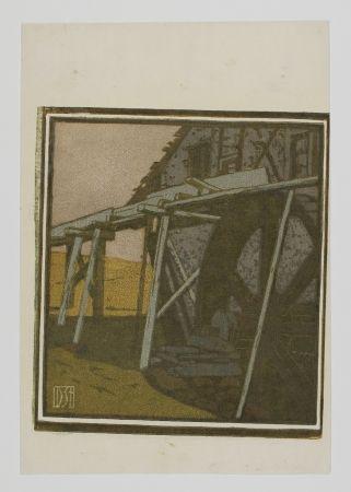 Гравюра На Дереве Staschus - Alte Mühle (Old Mill)