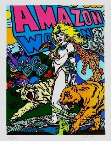 Литография Erro - Amazone