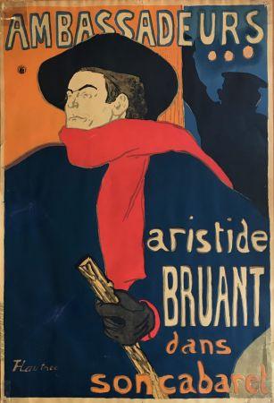 Литография Toulouse-Lautrec - Ambassadeurs - Aristide Bruant dans son cabaret (création 1892)