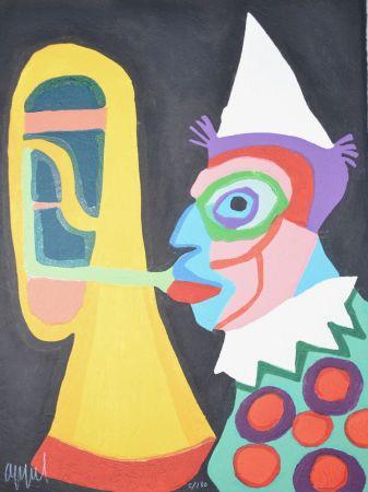Акватинта Appel - Amsterdam clown