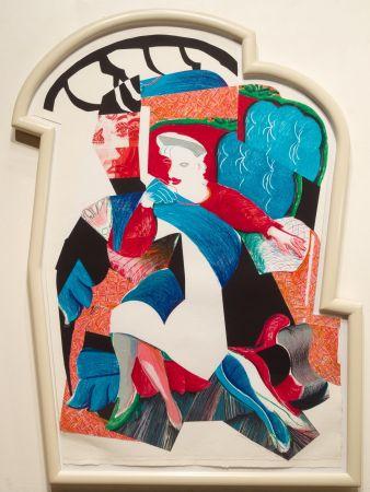 Литография Hockney - An Image of Celia, State II