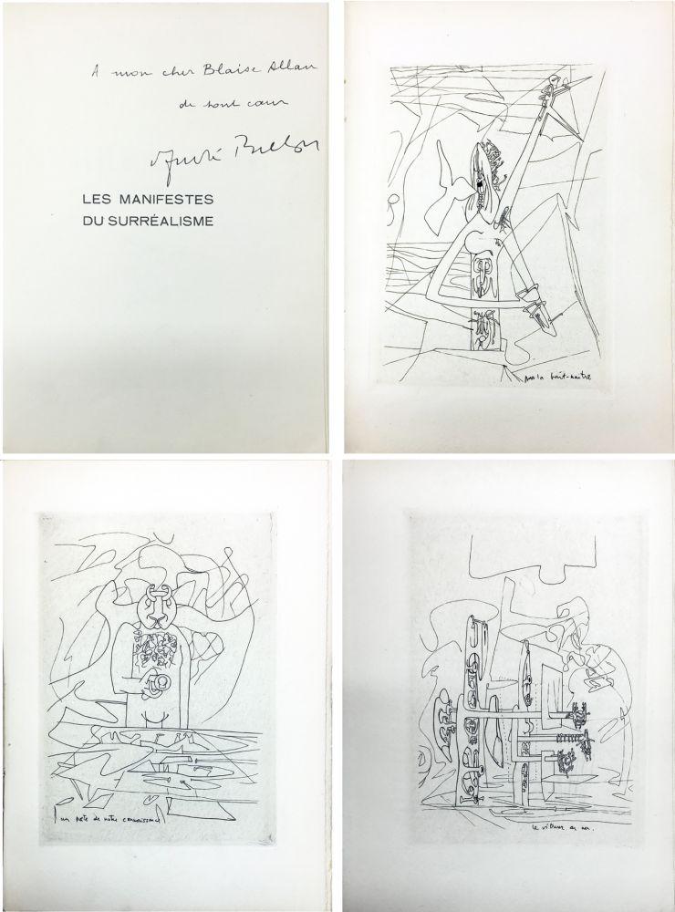 Иллюстрированная Книга Matta - André Breton : Les Manifestes du Surréalisme suivis de Prolégomènes à un troisième manifeste du surréalisme ou non. Avec 3 pointes-sèches de Matta