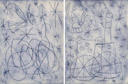 Иллюстрированная Книга Miró - André Frénaud : NOËL AU CHEMIN DE FER. [ALÈS, PAB, 1959].