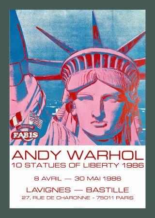 Литография Warhol - Andy Warhol '10 Statues Of Liberty' 1986 Original Pop Art Poste