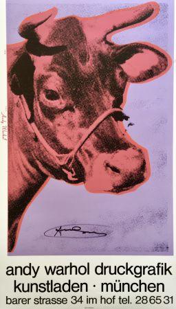 Сериграфия Warhol - Andy Warhol 'Cow Wallpaper (Magenta)' 1983 Hand Signed Original Pop Art Poster