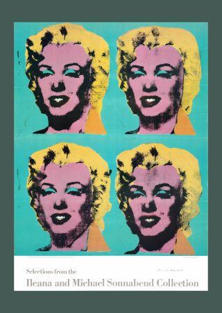 Литография Warhol - Andy Warhol 'Four Marilyns' 1985 Hand Signed Original Pop Art Poster with COA