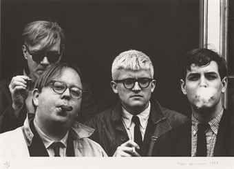 Фотографии Hopper - Andy Warhol, Henry Geldzahler, David Hockney and Jeff Goodman