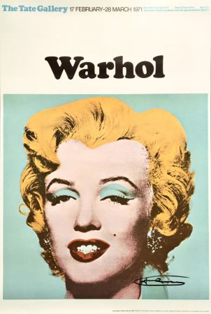 Литография Warhol - Andy Warhol 'Marilyn (Tate Gallery)' 1971 Hand Signed Original Pop Art Poster
