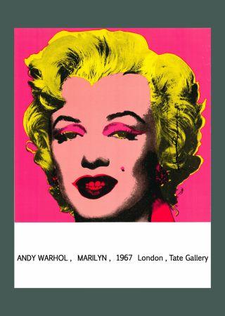 Литография Warhol - Andy Warhol 'Marilyn (Tate Gallery)' 1987 Hand Signed Original Pop Art Poster
