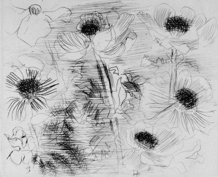 Офорт Dufy - Anemones