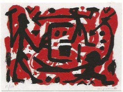 Сериграфия Penck - Angriff und Verteidigung