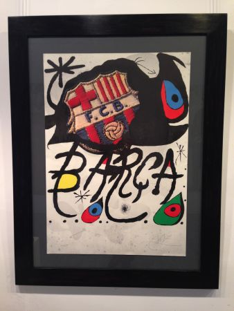 Литография Miró - Aniversario F.c. Barcelona