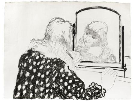 Литография Hockney - Ann Combing Her Hair