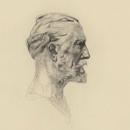 Гравюра Сухой Иглой Rodin - Antonin Proust