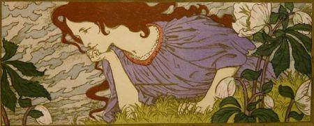 Литография Grasset - Anxiété