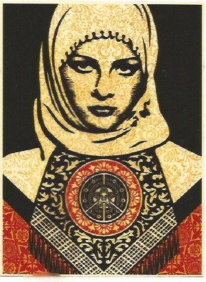 Сериграфия Fairey - Arab woman