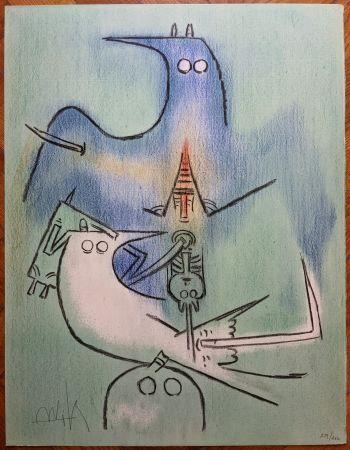 Литография Lam - Arbre de plumes