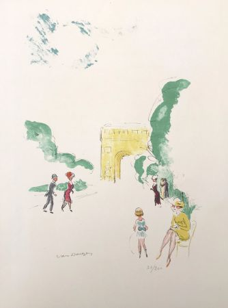 Литография Van Dongen - Arc de Triomphe