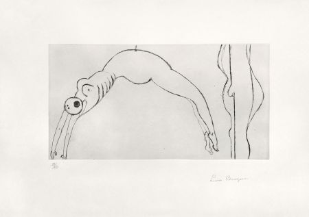 Гравюра Bourgeois - Arched figure