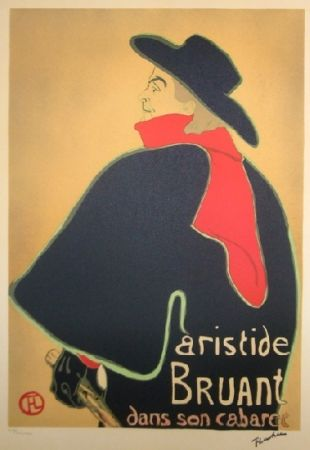 Литография Toulouse-Lautrec - Aristide Bruant