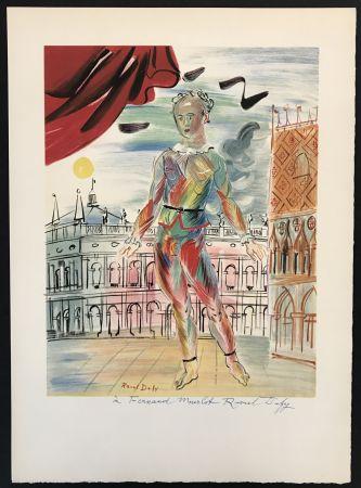 Литография Dufy - Arlequin a la Maniere Venitienne