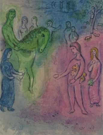 Литография Chagall - Arrivee de Dionysophane