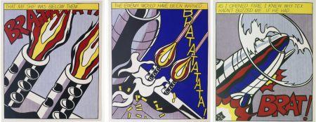 Литография Lichtenstein -  As I Opened Fire