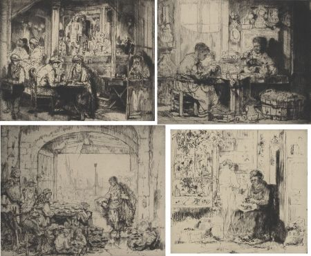 Гравюра Brouet - (Assorted Occupations:  A Collection Of Ten Original Etchings)
