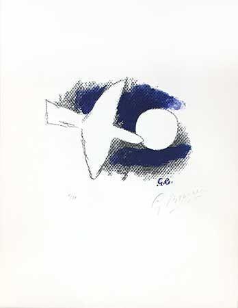 Литография Braque - Astre Et Oiseau