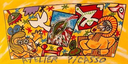 Литография Donzelli - Atelier Picasso