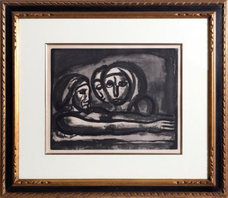 Акватинта Rouault - Au Presser Le Raisin Fut Foule' (In the Winepress the Grapes were Crushed ) from the Misere Series, Plate 48