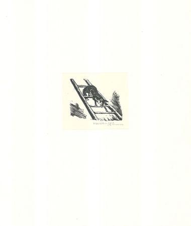 Гравюра На Дереве Klemm - Auf der Leiter