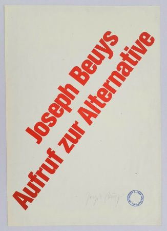 Литография Beuys - Aufruf zur Alternative