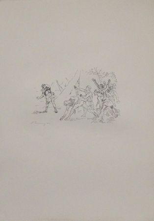 Литография Slevogt - Aufstand der Soldaten gegen Klearchos