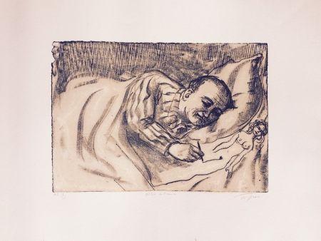 Литография Topor - Autoportrait