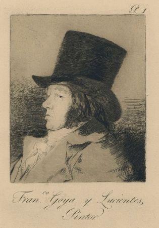 Гравюра Goya - Autorretrato