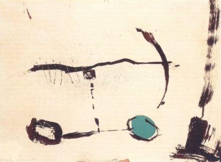 Гравюра Riera I Aragó - Avió roda devant blava