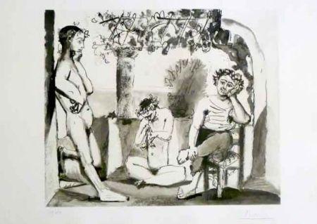 Офорт И Аквитанта Picasso - Bacchanale
