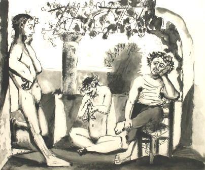 Гравюра Picasso - Bacchanale (Afterwork)