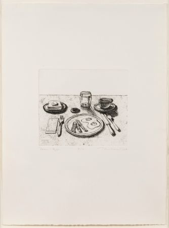 Гравюра Thiebaud - Bacon and Eggs, from Delights
