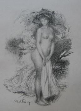 Литография Faivre - Baigneuse