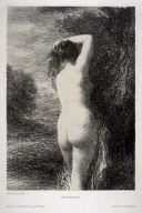 Литография Fantin-Latour - Baigneuse debout (3º planche)