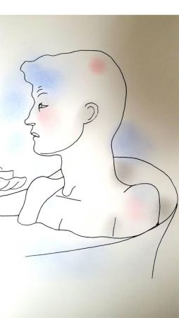 Литография Cocteau - Bain