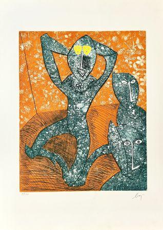Гравюра Baj - Baj chez Picasso 11,
