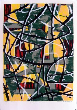 Сериграфия Anderberg - Barbed wire dawn
