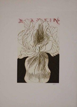 Офорт И Аквитанта Baskin - Baskin's Iris