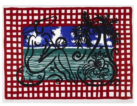 Литография Szczesny - Bathers on Mustique