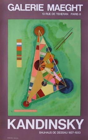 Афиша Kandinsky - BAUHAUS DE DESSAU. Affiche originale en lithographie (1965).