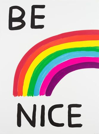 Сериграфия Shrigley - Be Nice